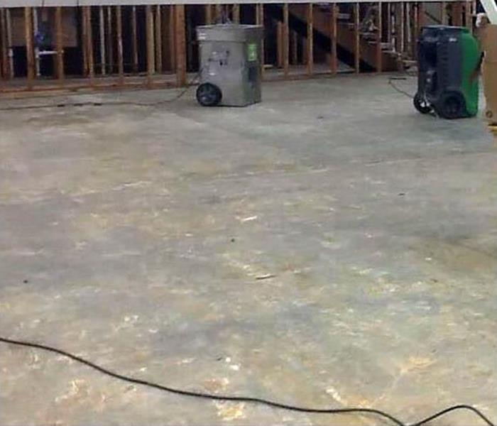 water removed from flooring